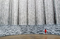 Water wall, Houston, Texas, USA