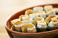 Oven-baked herring rolls Sweden