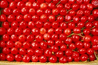 Fruits , Pile of red cherries