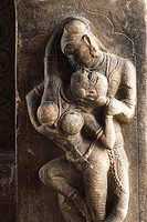 Statues in lovers , perur temple , coimbatore , tamil nadu , india