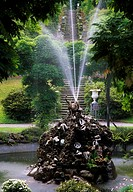 Fountain in the Pergola, Italian Garden, Bantry House, Co Cork, Ireland