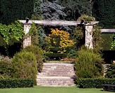 Co Down, Mount Stewart Shamrock Garden, Irish Harp Yew Topiary