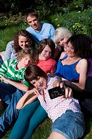 Friends having photo taken