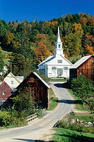 Village of Waits River in Vermont, USA