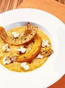 Risotto giallo con la ricotta Pumpkin risotto with ricotta