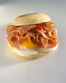 Fried Egg and Bacon on an English Muffin Not available in UK