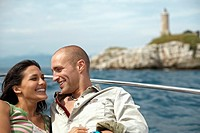 Loving Couple on Boat