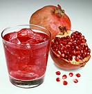 Pomegranate juice with ice cubes Not available for exclusive usages