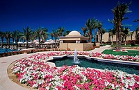 Beautiful Garden of the Ritz Carlton Hotel Dubai, United Arab Emirates, Middle East