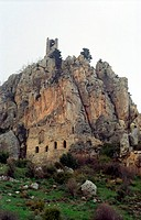 The windswept castle of St  Hillarion  History: Saint Hillarion fled from persecution in the Holy Land to live and die in a cave in the Pentadahtilos ...
