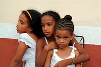 Portrait of local girls Trinidad, Cuba, Caribbean