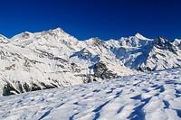 Switzerland, Europe, Weisshorn, White horn, Schalihorn, Zinalrothorn, Beso, Trifthorn, Ober Gabelhorn, Valais Alps, So