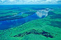 Venezuela, South America, Orinoco River, Amazonas State, Aerial view, Rainforest, Forest, Landscape, Tropical, South A