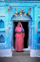 Orcha,entrance of village's house Madhya Pradesh, India, Asia