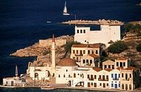 Hora, castle Kastellorizo, Dodecanese, Greece