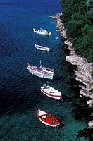 Kioni, fishing boats Ithaki, Ionian Islands Greece