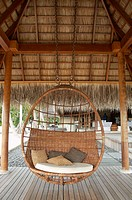 Relax chair in Resorts hotel. Maldives Island, Indian Ocean