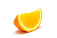 Orange segment on white background