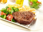 Steak Chips And Salad - Non Exclusive