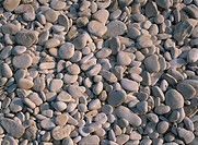 Pebbles on beach on the south coast of Vis, Croatia
