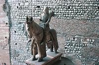 Equestrian statue of Cangrande I della Scala, Castelvecchio, Verona (UNESCO World Heritage List, 2000), Veneto, Italy.
