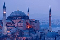 St. Sophie mosque in the evening, Istanbul. Turkey