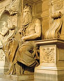 Statue of Moses (1514-1516) by Michelangelo in San Pietro in Vincoli church, Rome. Italy