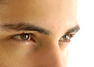 Close-up of a young man's eyes