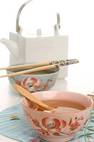 Asian teapot and teacup