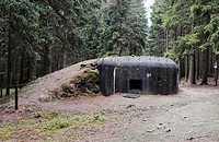 World War Two Bunker near Slavonice, Southern Moravia, Czech Republic