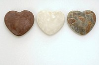 Three heartshape stones