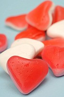 Heartshape candies