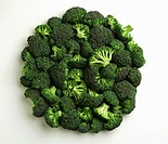 Agriculture - Broccoli florettes, large, on white