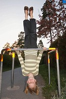 Girl upside down