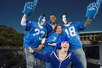Cheering and tailgating fans