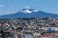 Panoramic view of city near a volcano, Guatemala City, Guatemala