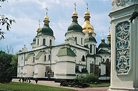 Low angle view of a cathedral, St. Sophia Cathedral, Kiev, Ukraine