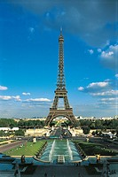 France - Paris - The Eiffel Tower as seen from the Trocadero
