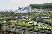 France - Centre - Villandry Castle UNESCO World Heritage Site, 2000 and gardens