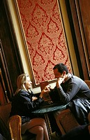 Budapest, romantic encounter in famous 19th century patisserie Gerbeaud Cukraszda