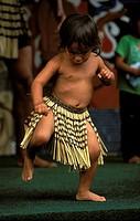 Rotorua, Maori dance show, 2nd of a 4 picture sequence