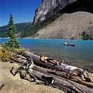 Alberta, Rocky Mountains, Lake Morraine, biking and canoeing