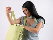 Woman carrying handbag