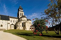 Abbey of Fontevraud, built in the 12 th. century and then restored, now in gothic style, Maine et Loire province. France