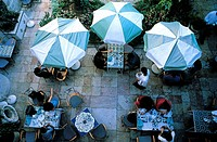 Israel, Jerusalem, cafe terrace