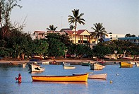 Mauritius, fishing boats