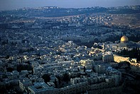 Israel, aerial view of Jerusalem (thumbnail)