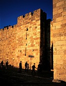 Israel, Jerusalem, old city walls (thumbnail)
