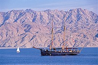 Israel, sailing ships on the Red Sea