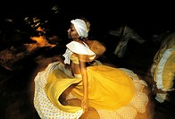 Mauritius, dancing the sega, traditional dance